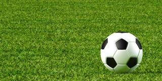 Piłka nożna gazon i piłka ilustracja wektor