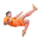 Piłka nożna gracz futbolu Zdjęcie Stock