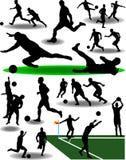 piłka nożna gracza Zdjęcia Stock