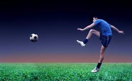 piłka nożna gracza Zdjęcie Stock