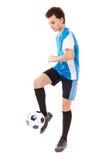 piłka nożna gracza, nastoletnia Zdjęcie Royalty Free