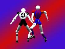 piłka nożna graczy 4 obj. Zdjęcie Stock