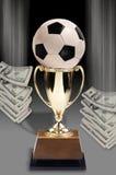 Piłka nożna i pieniądze obrazy stock