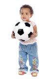 piłka nożna jaja dziecka Fotografia Stock