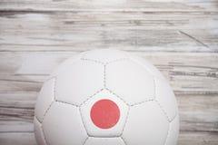 Piłka nożna: Japonia piłki nożnej piłki tło Dla Międzynarodowego Competiti Zdjęcia Stock