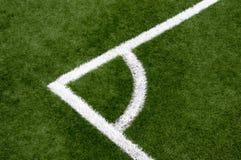 Piłka nożna kąt Zdjęcie Stock