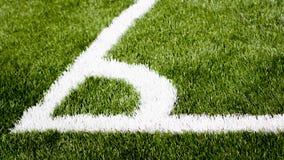 Piłka nożna kąt Obraz Royalty Free