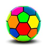 piłka nożna kolorowa balowa ilustracja wektor
