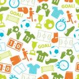 Piłka nożna koloru futbolowych ikon bezszwowy wzór Zdjęcia Stock