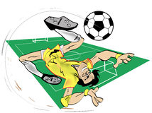 piłka nożna kreskówki Obraz Royalty Free