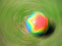 piłka nożna kulowego spin zdjęcie royalty free