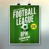 Piłka nożna liga ulotki projekta szablon Piłki nożnej zaproszenia futbolu plakatowi sporty ilustracji