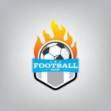 Piłka nożna loga projekta szablon, Futbolowa odznaki drużyny tożsamość royalty ilustracja