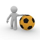 piłka nożna na złoto Fotografia Stock