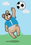 Piłka nożna niedźwiedź Ilustracji