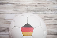Piłka nożna: Niemiecki piłki nożnej piłki tło Dla Międzynarodowego Competit Obrazy Stock