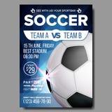 Piłka nożna plakata wektor Sporta baru wydarzenia Gemowy zawiadomienie Futbolowa sztandar reklama Fachowy liga sport ilustracji