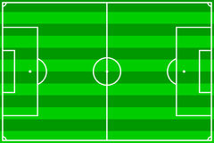 piłka nożna pola Zdjęcia Royalty Free
