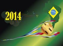 Piłka nożna pucharu świata Brazylia 2014 kraj Zdjęcie Royalty Free