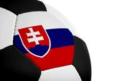 piłka nożna słowackich bandery Fotografia Royalty Free