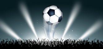 Piłka nożna sporta sztandar Zdjęcie Royalty Free