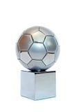piłka nożna srebrną kubki Obraz Royalty Free