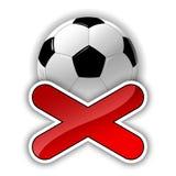Piłka nożna symbol Obrazy Stock