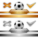 Piłka nożna symbol Fotografia Royalty Free