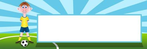 Piłka nożna sztandar Zdjęcie Stock