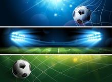 Piłka nożna sztandary wektor Zdjęcia Royalty Free
