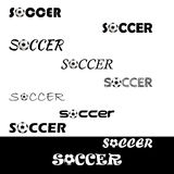 Piłka nożna tekst dla loga drużyna i filiżanka Zdjęcie Royalty Free