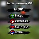 Piłka nożna turniej 2018 grupowy E ilustracji