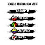 Piłka nożna turniej 2018 grupowy H ilustracji