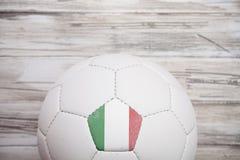 Piłka nożna: Włochy piłki nożnej piłki tło Dla Międzynarodowego Competiti Fotografia Stock