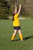 piłka nożna w świętowaniu Fotografia Stock