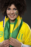 Piłka nożna wielbiciela sportu zwolennik Brazylia Obrazy Royalty Free