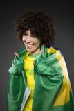 Piłka nożna wielbiciela sportu zwolennik Brazylia Fotografia Royalty Free