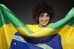 Piłka nożna wielbiciela sportu zwolennik Brazylia Obraz Stock