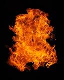 piłka ogień Zdjęcie Royalty Free