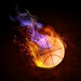 piłka ogień Fotografia Royalty Free