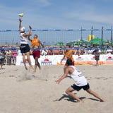 piłka plażowi finały słoneczne Obraz Stock