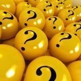 piłka tajemniczy żółty Zdjęcia Stock