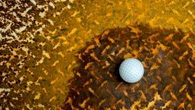 Piłka w ośniedziałej stali Obrazy Stock