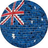 Piłka z Australia flaga w cegła stylu Obrazy Royalty Free