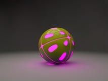 Piłka z różowymi światłami od inside Zdjęcie Royalty Free