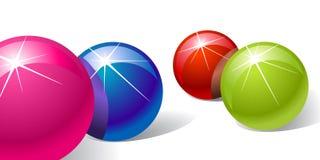 piłki barwią błyszczącego royalty ilustracja