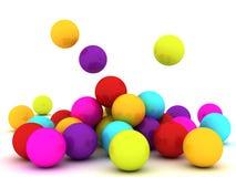 piłki colour royalty ilustracja