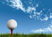 piłki golfa zieleni gazon ilustracji