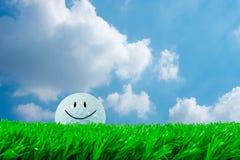 Piłki golfowej ono uśmiecha się Obrazy Royalty Free