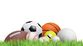 Piłki na trawie zdjęcie stock